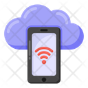 Mobile Storage Mobile Cloud Phone Cloud Icon