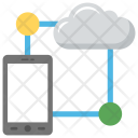 Mobile Cloud Network Icon
