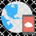 Mobile Cloud Internet Icon