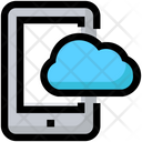 Mobile Cloud Storage Icon