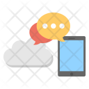 Mobile Cloud Telecommunication Icon