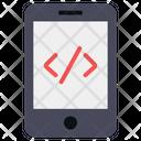 Mobile Coding App Coding App Development Icon
