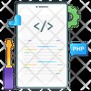 Code Optimization Mobile Coding Html Coding Icon
