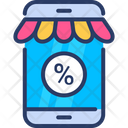 Discount Mobile Mobile Commerce Icon