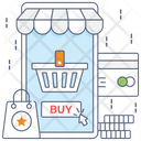 Shopping App Mobile Commerce Online Buying Icon