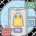 Mcommerce Mobile Commerce Online Shopping Icon