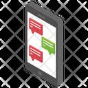 Social Media Mobile Communication Mobile Chatting Icon
