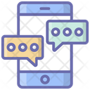 Mobile Communication Mobile Conversation Mobile Chatting Icon