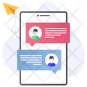 Online Messaging Mobile Communication Cell Phone Conversation Icon