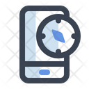 Mobile Compass Icon