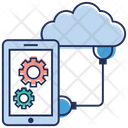 Cloud Computing Mobile Configuration Mobile Maintenance Icon