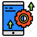 Smartphone Screen Gear Icon