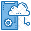 Smartphone Cloud System Online Icon