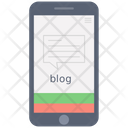 Online Content Mobile Content Mobile Blog Icon