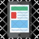 Mobile Content Mobile Interface Mobile Design Icon