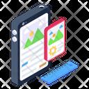Mobile Content Content Design Digital Content Icon