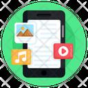 Online Content Mobile Content Digital Content Icon