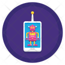 Mobile Controlled Robot Icon