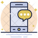 Mobile Conversation Mobile Chat Communication Icon