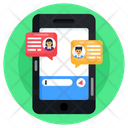 Online Conversation Mobile Conversation Virtual Chat Icon