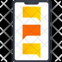 Mobile Conversation Mobile Message Mobile Communication Icon