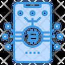 Smartphone Money Cryptocurrency Icon