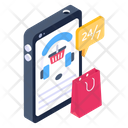 247 Services Mobile Support Mobile Customer Service Icon