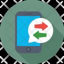 Mobile Data Interchange Icon