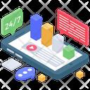 Mobile Data Online Analytics Data Statistics Icon