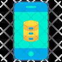 Database External Storage Mobile Database Icon