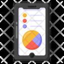 Data Analytics Mobile Data Infographic Icon