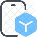 Mobile Data Mobile Block Data Sharing Icon