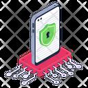 Mobile Data Encryption Icon