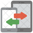 Mobile Data Exchange Icon