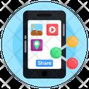 Mobile File Sharing Mobile Data Sharing Data Sharing Icon