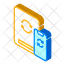 Cloud Synchronization Phone Icon