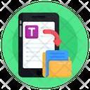 Mobile File Sharing Mobile Folder Transfer Mobile Data Transfer Icon