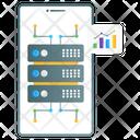 Mobile Data Mobile Storage Mobile Database Icon