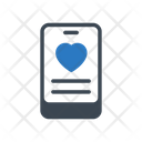 Mobile Dating Love Icon