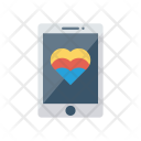 Mobile Heart Phone Icon
