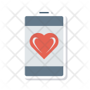 Mobile Phone Heart Icon