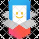 Mobile Delivery Mobile Service Open Box Icon