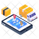 Online Delivery Service Mobile Delivery Service Electronic Delivery Icon