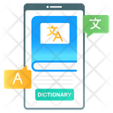 Mobile Dictionary Language Dictionary Dictionary Application Icon