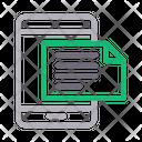 Mobile Document Files Icon