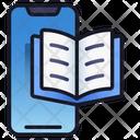 Mobile E Book Book Library Icon