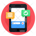 Mobile Ecological Chat Icon
