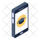 Online Education Mobile Education E Learning Icon