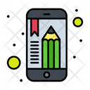 Mobile Education Educational App Mobile Learning Icon
