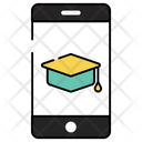 Mobile Education Distance Education Distance Learning Icon